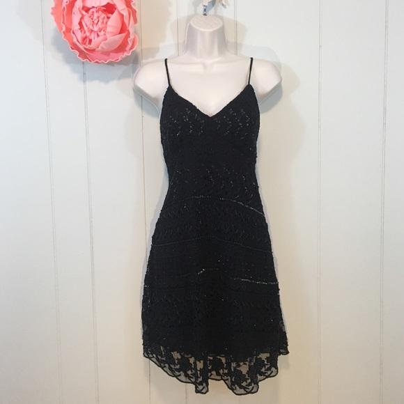 cc56e0f8 Zara Dresses   Womens Dress Black Beaded Crochet Xs Nwt   Poshmark